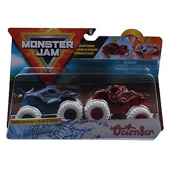 Monstertrucks Monster Jam 1:64 Rood / Blauw 2 Stuks