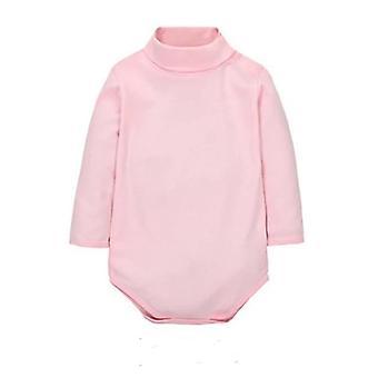 Baby Turn-Down Collar Long Sleeve Romper