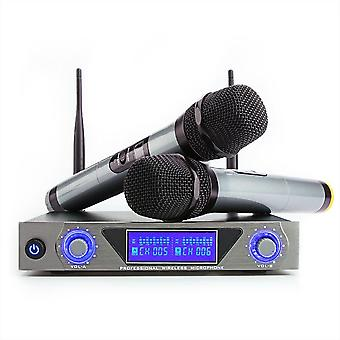 ARCHEER UHF Wireless Microphone System with LCD Display and Dual Handheld Dynamic Microphones for Ka