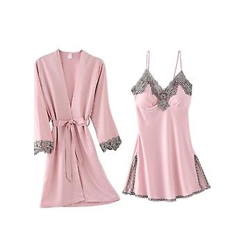 Arrival Women's Sexy Lace Satin Robe & Gown Sets