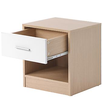 Nightstand Bedside Table With Storage Cabinet