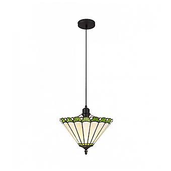 Tiffany Calais 1 Lámpara Colgante Verde