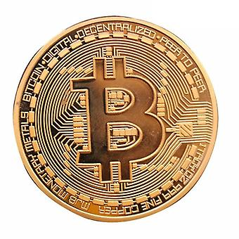 Gold Plated Bitcoins Imitation Coin-souvenir Medal