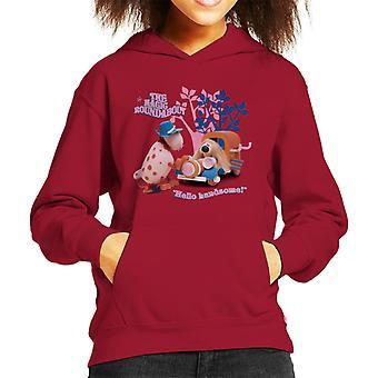 The Magic Roundabout Ermintrude & Dougal Hello Handsome Kid's Hooded Sweatshirt