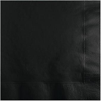 Bn 12/20Ct 2P Black Velvet Napkin