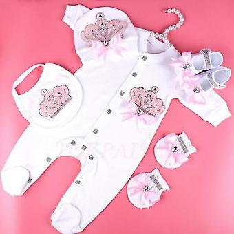 Baby Clothes, Princess Pearl Crown, Newborn Bodysuit Pajamas