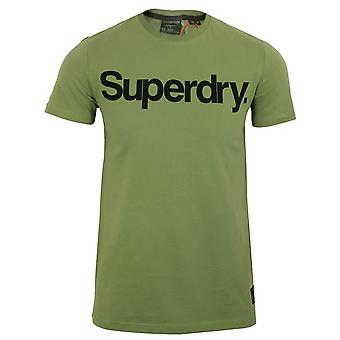 Superdry men's military graphic lieutenant olive t-shirt