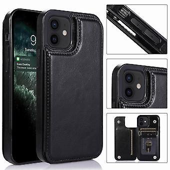 حقيبة جلدية مع فتحة بطاقة ل iPhone 5/5S/SE - أسود