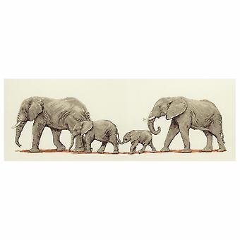 Anchor Cross Stitch Kit: Elephant Stroll