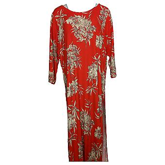 G.I.L.I. Got It Love It Women's Plus Top Printed Duster Red A374954