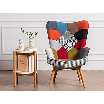 Harrison Patchwork lounge stol | Patchwork-| med flera | Armstol | Retro (lapptäcke Multi-colour)