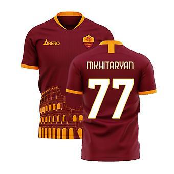 Roma 2020-2021 Home Concept Football Kit (Libero) - Ei sponsoria (MKHITARYAN 77)
