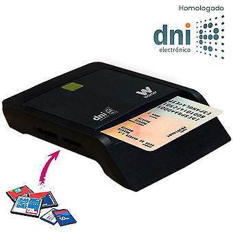 FengChun elektronische ID Reader Combo Schwarz - DNIe Leser, ID 3.0, SD Karten, MMC, MS, MSPro, XD, SD