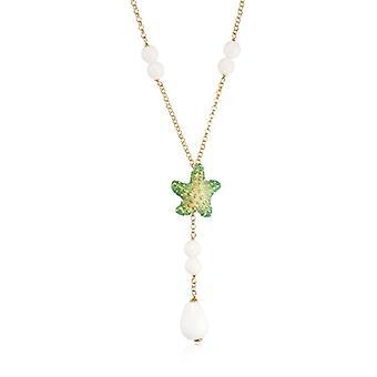 MISIS Women-Necklace Isla de Mujeres Silver 925 White Agate 50 cm - CA07520V