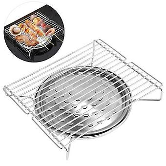 Outdoor Camping Stove Grill Portable Barbecue Grill Heavy Duty Iron Alloy Grill for Home Outdoor