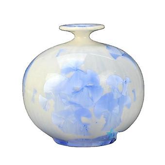 Flambe photochromic glaze glacier style ceramic flower vase