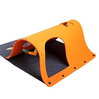 70*52cm DIY Cat Tunnels Toy Foldable Cats Tunnels Playing Toys Kitten Channel Rolling Tunnel(orange)