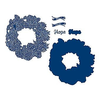 Tattered Lace Hope Wreath Die Set
