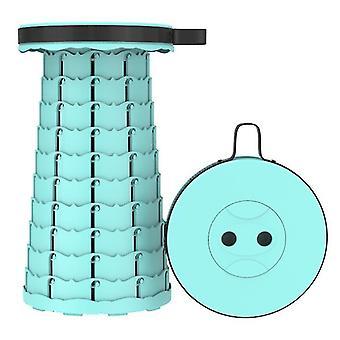 Tabouret télescopique pliant extérieur vert lac, tabouret en plastique portable pour le camping et la pêche az16306