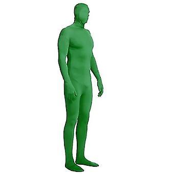 L grön hel bodysuit unisex spandex stretch vuxen kostym x5420