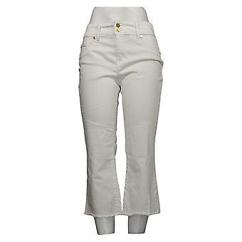 إيمان العالمية شيك جينز المرأة 10 بيتيت ريزورت 360 سليم وايت 685843UCU
