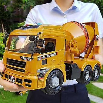 لعبة هدايا للأطفال كبيرة الهندسة سيارة حفارة رافعة شاحنة نموذج ضوء الموسيقى للأطفال في الهواء الطلق لعبة صفراء