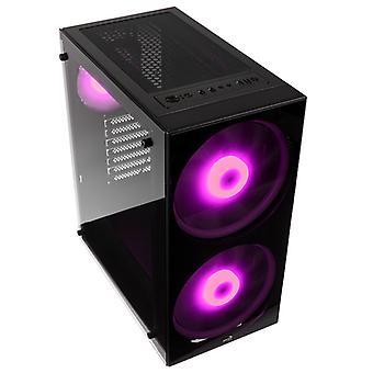 Aerocool Python Midi Tower RGB Case - Black Tempered Glass