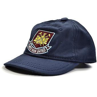 West Ham Classic Crest Peuters Baseball Cap Navy