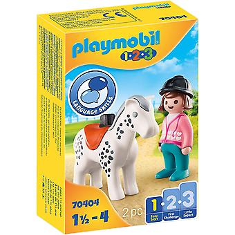Playmobil 1.2.3 Rider with Horse Playset