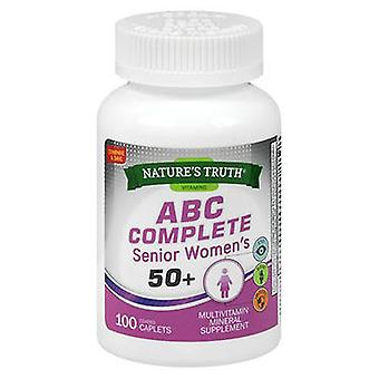 Nature's Truth ABC Complete Senior Women's 50+, 100 Tabs