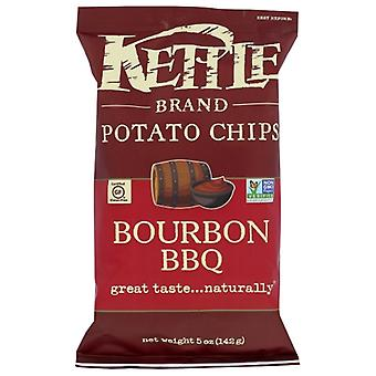 Kettle Foods Chips Bourbon Bbq, Case of 15 X 5 Oz