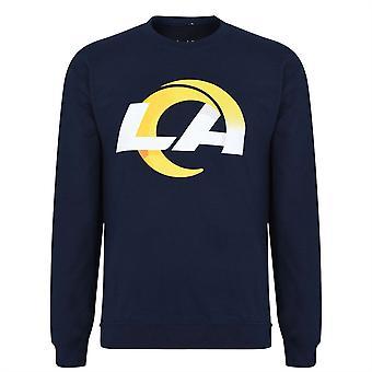 NFL Mens Logo Crew Sweat Sweater Jumper Long Sleeve Pullover Top