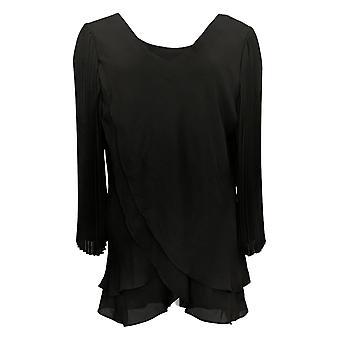 Laurie Felt Women's Top Basic V-Neck Long Sleeve Black