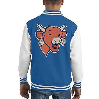 The Laughing Cow Winking Logo Kid's Varsity Jacket