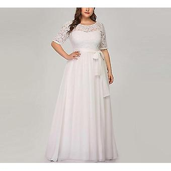 Evening Dress, Short Sleeve A-line Party Gown