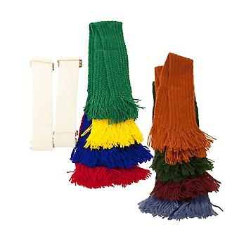 Bisley Garter Set - shooting set of 4 garters with adjustable elastic sock tie