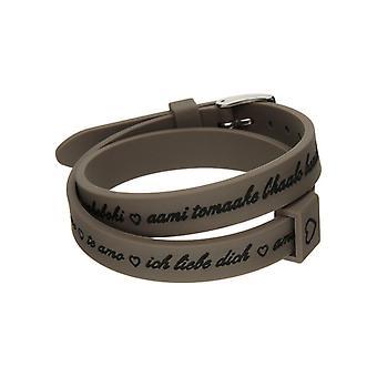 Il mezzometro i love you silver silicone bracelet  bm1703
