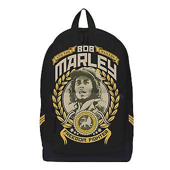 Bob Marley Backpack Bag Freedom Fighter porträtt Logotyp ny Officiell Svart