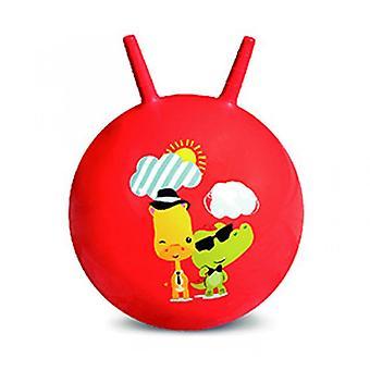 Croissant pomppiva pallo vauva puhallettava lelupallo (punainen)
