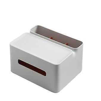 Multifunctionele tissue opslag box diversen dubbellaagse afstandsbediening desktop mobiele telefoon plug