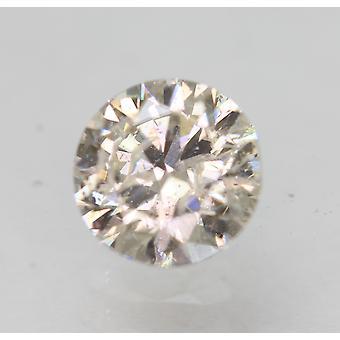 Certified 0.46 Carat I SI2 Round Brilliant Enhanced Natural Loose Diamond 5.01mm