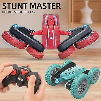 2.4g Double-sided Rotating Flower Stunt Remote Control Light Rolling Car Toy