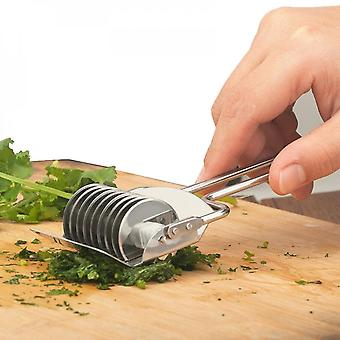 Onion Chopper Slicer Stainless Steel Rolling Garlic Coriander Spice Cutter Shredding Knife Chopped Grater Kitchen Gadgets Tools