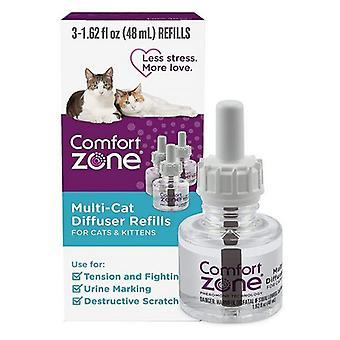Náplne multi-mačacieho difúzora Comfort Zone pre mačky a mačiatka - 3 počet