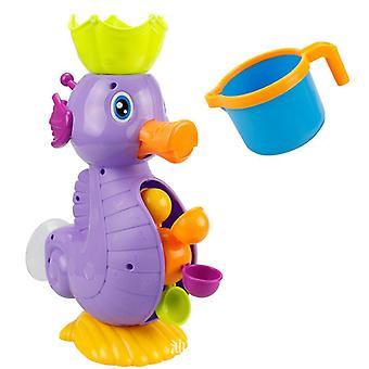 Aranyos Csikóhal vízikerék játék Baba csaptelep fürdő szökőkút eszköz játék vízi játék (lila)