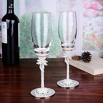 Colour Enamel Champagne Cup Goblet Creative High Grade Crystal Wine Cup Lead Free