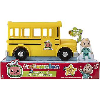 Video game consoles musical yellow school bus