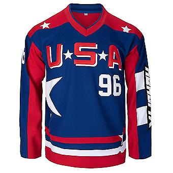Charlie Conway Usa #96 Mighty Ducks Maillot de hockey sur glace