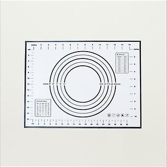Keittiö tarttumaton silikoni keittoastiat taikina matto lämmönkestävä-30 X 40 cm musta