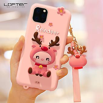 Loft Is Suitable For Iphone12 Mobile Phone Case And Apple 13pro Cartoon Silicone Protective Cover (pink)